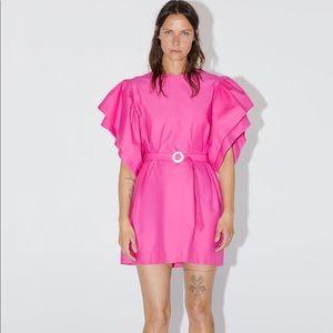 Zara pink puff sleeve dress- BRAND NEW W TAGS